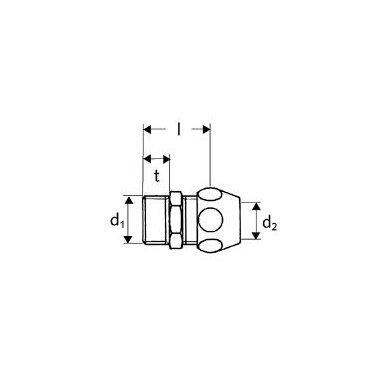 Sujungimas su veržle Schell 1/2 išorė x DN10 2