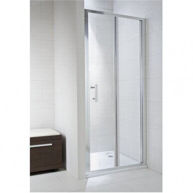 Sulenkiamos dušo durelės Jika Cubito Pure 80, 90 cm