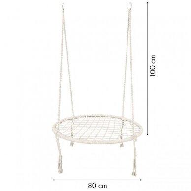 Sūpynės tinklelis GoodHome White (80cm, iki 150kg) 10