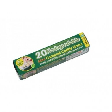 Suyrantys maišeliai komposto dėžei Caddy 5 L (20 vnt.) 2