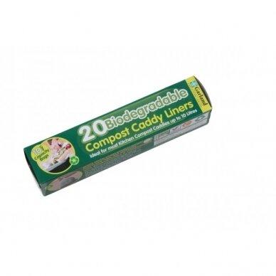 Suyrantys maišeliai komposto dėžei Caddy 9 L (20 vnt.) 2