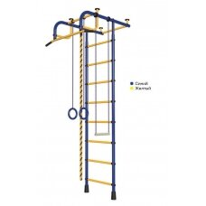 Švediška gimnastikos sienelė Pioner-1, mėlyna/geltona