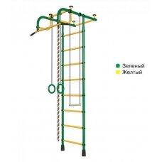 Švediška gimnastikos sienelė Pioner-1, žalia/geltona