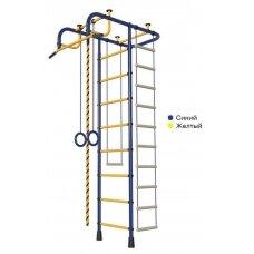 Švediška gimnastikos sienelė Pioner-A, mėlyna/geltona