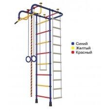 Švediška gimnastikos sienelė Pioner-A, mėlyna/raudona/geltona