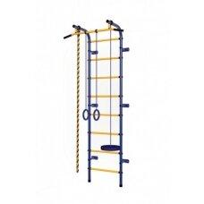 Švediška gimnastikos sienelė Pioner-C1P mėlyna/geltona