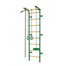 Švediška gimnastikos sienelė Pioner-C1P žalia/geltona