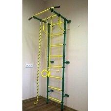 Švediška gimnastikos sienelė Pioner-C2P žalia/geltona