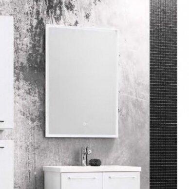 Šviečiantis veidrodis su rėmeliu Kame Lotus 60, 80, 100, 120 cm