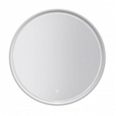 Šviečiantis veidrodis su rėmeliu Kame Lotus Round 80x80 cm