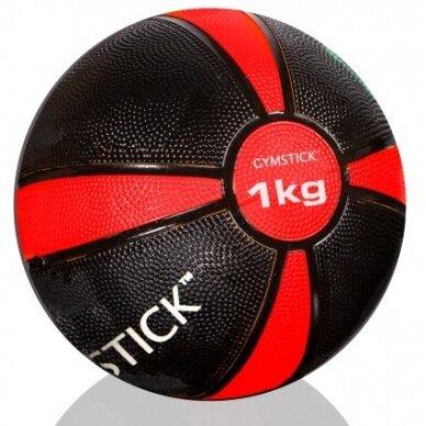 Svorinis kamuolys GYMSTICK Medicine Ball 1kg D19 cm