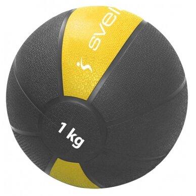 Svorinis kamuolys SVELTUS Medicine Ball 1kg D19,6 cm
