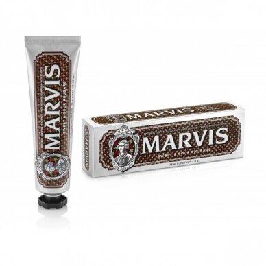 Dantų pasta Marvis rabarbarų ir mėtų skonio 75 ml