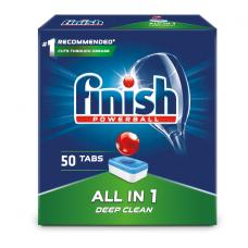 Tabletės indaplovėms Finish All in 1 Max Powerball 50 vnt.