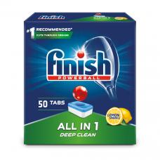 Tabletės indaplovėms Finish All in 1 Max Powerball Lemon 50 vnt.