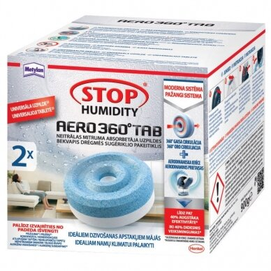 Tabletės drėgmės surinktuvams Metylan Stop Humidity Aero 2 x 450 g