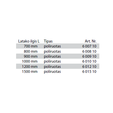 Dušo latako grotelės Tece Basic 70, 80, 90, 100, 120, 150 cm 3