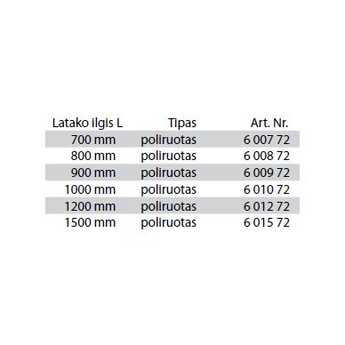Dušo latako grotelės įklijuojamai plytelei Tece Plate II 70, 80, 90, 100, 120, 150 cm 3