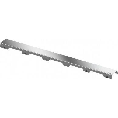 Nerūdijančio plieno dušo latako grotelės Tece Steel II 70, 80, 90, 100, 120, 150 cm