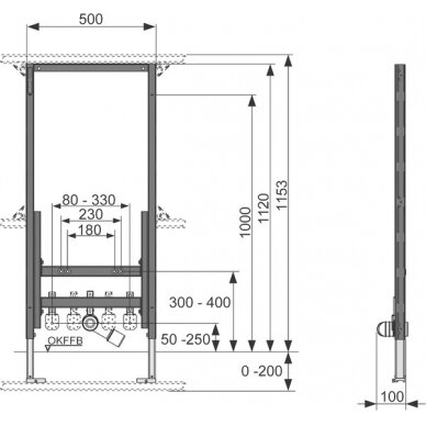 Tece universalus bidė modulis, 112cm 2