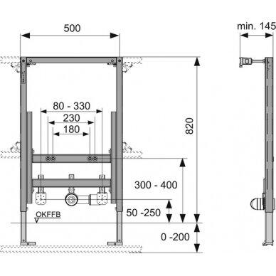 Tece universalus bidė modulis, 82cm 2