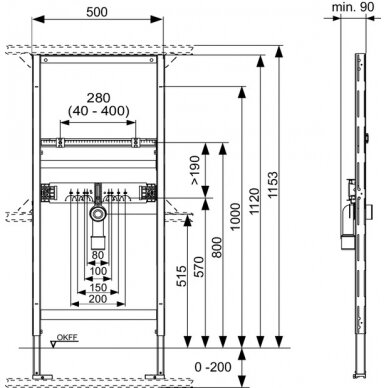 Tece universalus praustuvo modulis, 112cm 2