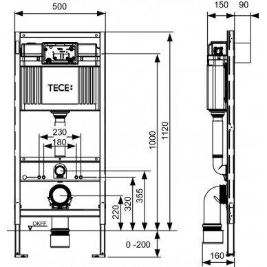 Tece universalus wc modulis, 112cm 2