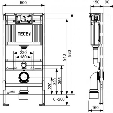 Tece universalus wc modulis, 98cm 2