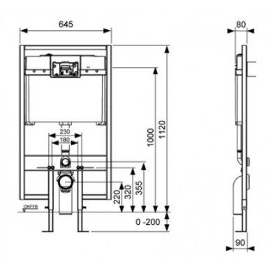 Tece wc modulis, 120cm, 8cm storio 2