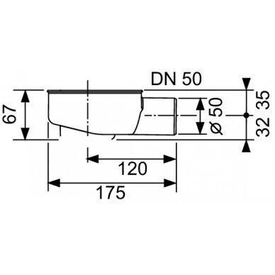 Tece žemas drainline sifonas DN50 2