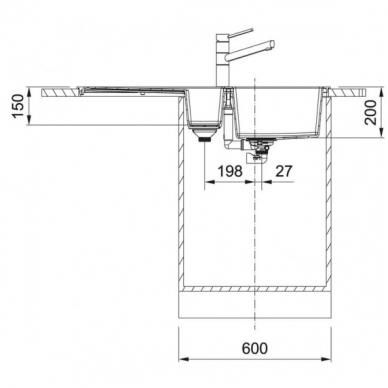 Tectonite plautuvė Franke  S2D 651 2