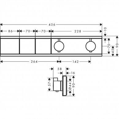 Termostatinis dušo maišytuvo modulis Hansgrohe RainSelect 3