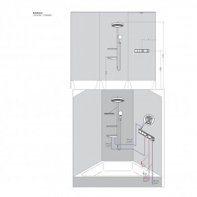Termostatinis dušo maišytuvo modulis Hansgrohe RainSelect 4