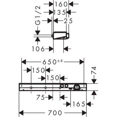 Termostatinis dušo maišytuvas Hansgrohe ShowerTablet Select 700 6