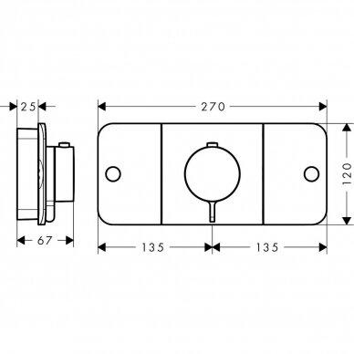 Termostatinis maišytuvas Axor One 2 funkcijų 4