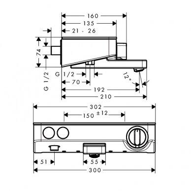 Termostatinis vonios maišytuvas Hansgrohe ShowerTablet Select 300 2