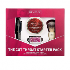 Vienašmenio skustuvo rinkinys Men Rock The Cut Throat Razor Starter Pack Black Pomegranate