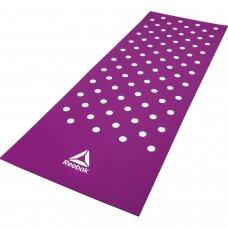 Treniruočių kilimėlis Reebok Spots 7mm, violetinis