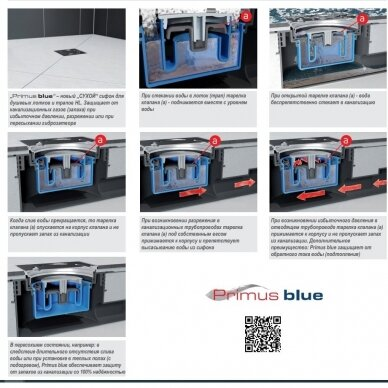 Trapas vidaus patalpoms HL541 Primus Blue 3