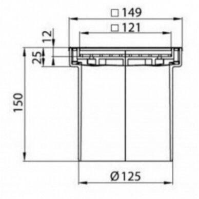 Trapo viršutinė dalis ACO ABS plytelėms 2