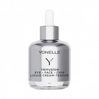 Stangrinamasis paakių, veido ir smakro kremas Yonelle Trifusion Eye Face Chin Liquid Cream-Tensor 50ml