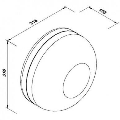 Tualetinio popieriaus laikiklis Faneco COSMO M 6