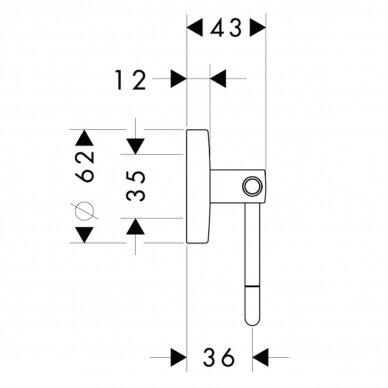 Tualetinio popieriaus laikiklis Hansgrohe Logis 2
