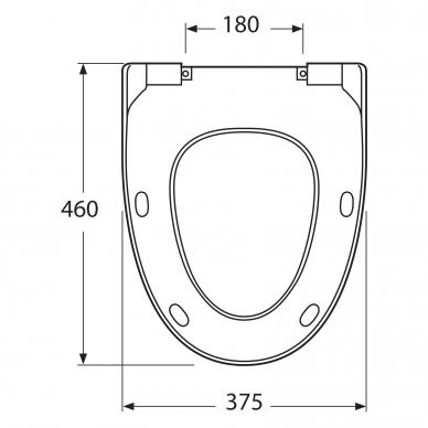 Tualeto dangtis Gustavsberg Estetic 9M09 Soft Close 3