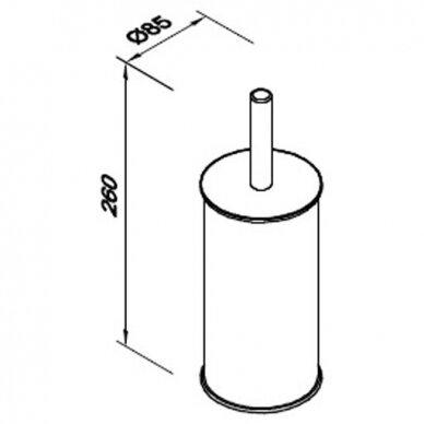 Tualeto šepetys montuojamas prie sienos Faneco Duo 2