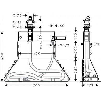 Tvirtinimo elementas voniai Hansgrohe PuraVida 2