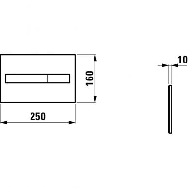Unitazo klavišas Laufen LIS Dual Flush chromuotas 2