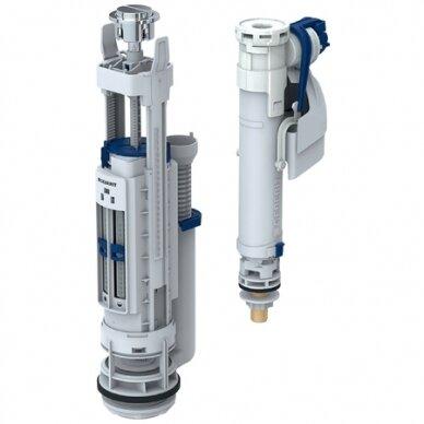 Universalus vandens pribėgimo nuleidimo mechanizmas Geberit Typ 290-360