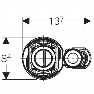 Universalus vandens pribėgimo nuleidimo mechanizmas Typ 290-380 3