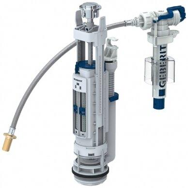 Universalus vandens pribėgimo nuleidimo mechanizmas Geberit Typ 290-380